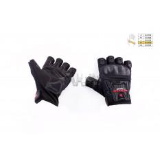 Перчатки без пальцев   (mod:MC-12D, size:XL, черные, текстиль)   SCOYCO