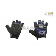 Перчатки без пальцев   (mod:MC-24D, size:M, синие, текстиль)   SCOYCO