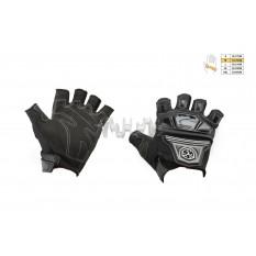 Перчатки без пальцев   (mod:MC-24D, size:M, черные, текстиль)   SCOYCO