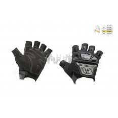 Перчатки без пальцев   (mod:MC-24D, size:XL, черные, текстиль)   SCOYCO