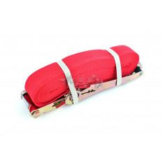 Ремень стяжной с натяжным механизмом 5000кг, красный   LVT