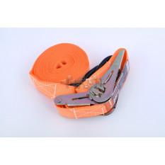 Ремень стяжной с натяжным механизмом 500кг, оранжевый   LVT