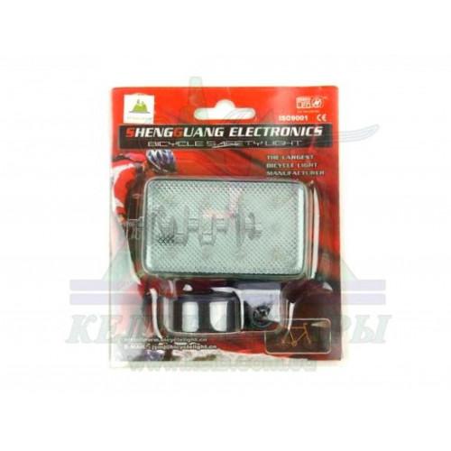 Стоп-сигнал (в сборе)   велосипедный   (универсальный) (прозрачный, 12 LED, АА*2) (mod 256)   KL