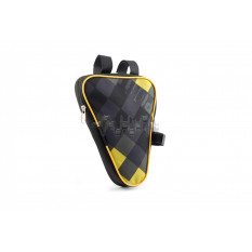 Сумка велосипедная на раму   (вертикальная)   (mod:1, черно-желтая)   AI