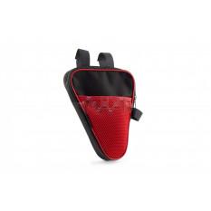 Сумка велосипедная на раму   (вертикальная)   (mod:2, черно-красная)   AI