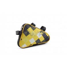 Сумка велосипедная на раму   (горизонтальная)   (mod:4, черно-желтая)   AI