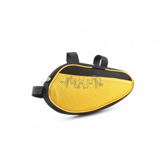 Сумка велосипедная на раму   (горизонтальная)   (mod:6, черно-желтая)   AI
