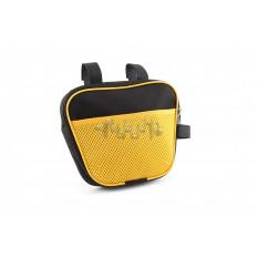 Сумка велосипедная на раму   (горизонтальная)   (mod:7, черно-желтая)   AI