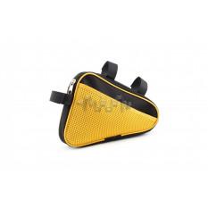 Сумка велосипедная на раму   (горизонтальная)   (mod:8, черно-желтая)   AI