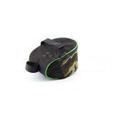 Сумка велосипедная под седло   (mod:1, черно-зеленый)   AI