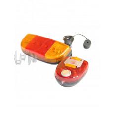 Ліхтарі велосипеда (в зборі) (комплект, перед / зад, LED) (mod: 107-V) KL арт.D-5521