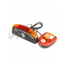 Ліхтарі велосипеда (в зборі) (комплект, перед / зад, LED) (mod: 338A) KL арт.D-5522