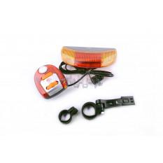 Ліхтарі велосипеда (в зборі) (комплект, перед / зад, LED) (mod: 557) YAT арт.D-357