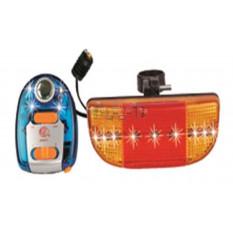 Ліхтарі велосипеда (в зборі) (комплект, перед / зад, LED) (mod: JY-107B) DS арт.R-3429