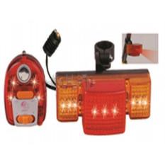 Ліхтарі велосипеда (в зборі) (комплект, перед / зад, LED) (mod: JY-608) DS арт.R-3434