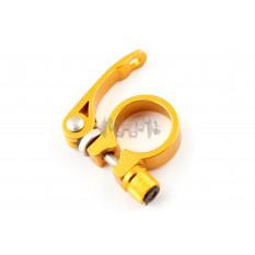 Хомут трубы подседельной велосипеда (крепление эксцентрик) (желтый)   DS