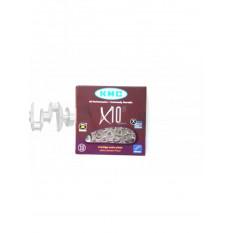 Цепь велосипедная   (1/2х11/128 116L)   (X10)   (KMC)   KL