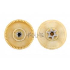Шестерня ведомая привода электропилы Falantech (d-10mm, D-76,5mm 56 шлицов)