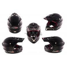Шлем кроссовый   (mod:MX456) (size:XXXL, черный матовый)   LS-2