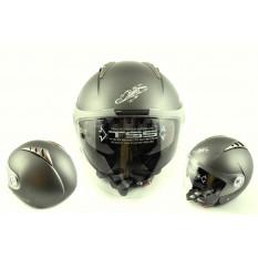 Шолом відкритий (mod: 545) (size: XL, білий матовий, сонцезахисні окуляри) LS2 арт.O-552