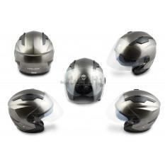Шлем открытый   (mod:DH958) (size:M, черный)   HELMO