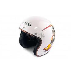 Шлем открытый   (mod:FX-510) (size:L, белый, SCYTHEMAN)   FGN