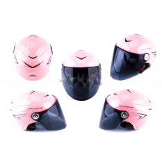 Шлем открытый   (mod:SM818) (size:XL, розовый)   HELMO