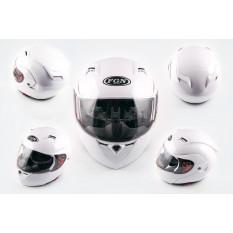 Шолом трансформер (mod: 688) (size: XL, білий, сонцезахисні окуляри) FGN арт.T-382