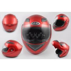 Шлем трансформер   (mod:K991) (size:ХL, красный)   COM