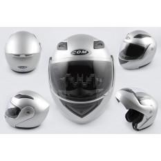 Шлем трансформер   (mod:K991) (size:ХL, серый)    COM