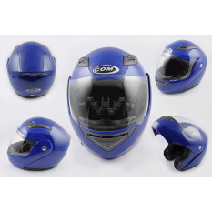 Шлем трансформер   (mod:K991) (size:ХL, синий)   COM