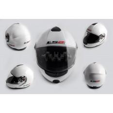 Шлем трансформер   (size:L, белый, + солнцезащитные очки)   LS-2