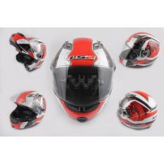 Шолом трансформер (size: XL, червоно-білий, + сонцезахисні окуляри, EUROPE) LS-2 арт.T-365
