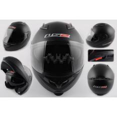 Шлем трансформер   (size:XL, черный матовый, + солнцезащитные очки)   LS-2