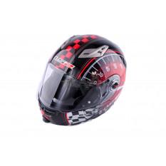 Шолом трансформер (size: ХL, червоно-чорний + сонцезахисні окуляри) LS-2 арт.T-1037