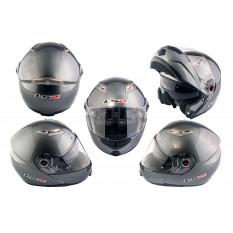 Шлем трансформер   (size:ХХL, серый + солнцезащитные очки)   LS-2