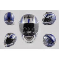 Шлем-интеграл   (mod:368) (size:L, бело-синий)   LS-2