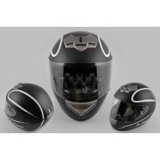 Шлем-интеграл   (mod:368) (size:XXL, черный матовый)   LS-2
