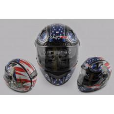 Шлем-интеграл   (mod:385/396) (size:L, Liberty, солнцезащитные очки)   LS-2