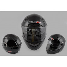 Шлем-интеграл   (mod:385/396) (size:XL, черный, солнцезащитные очки)   LS-2