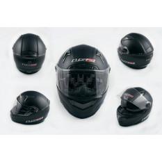 Шлем-интеграл   (mod:385/396) (size:XXL, черный матовый, солнцезащитные очки)   LS-2