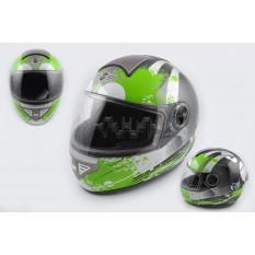 Шлем-интеграл   (mod:550) (premium class) (size:XL, черно-зеленый) Ш113   KOJI