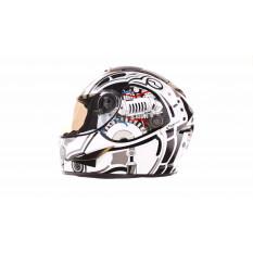 Шлем-интеграл   (mod:B-500) (size:L, черно-белый)   BEON