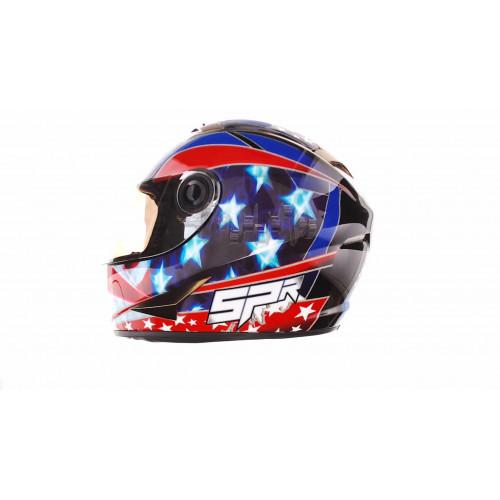 Шлем-интеграл   (mod:B-500) (size:L, черно-красно-синий)   BEON