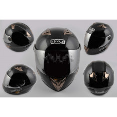 Шлем-интеграл   (mod:B-500) (size:L, черный)   BEON