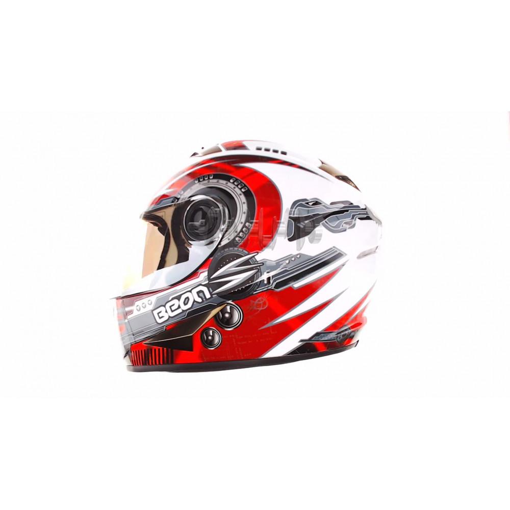 Шлем-интеграл   (mod:B-500) (size:XL, черно-серо-белый)   BEON
