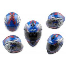 Шлем-интеграл   (mod:OP01) (size:L, синий)   HONZ