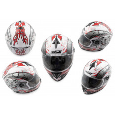 Шлем-интеграл   (mod:OP01) (size:M, белый)   HONZ
