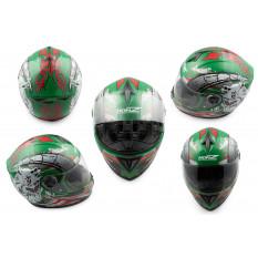 Шлем-интеграл   (mod:OP01) (size:M, зеленый)   HONZ