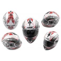 Шлем-интеграл   (mod:OP01) (size:XL, белый)   HONZ